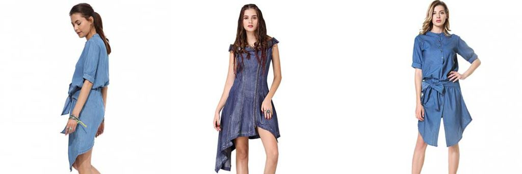 Джинсовое платье ассиметричное
